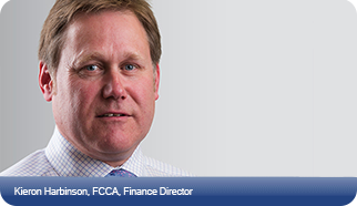 Kieron Harbinson, Finance Director
